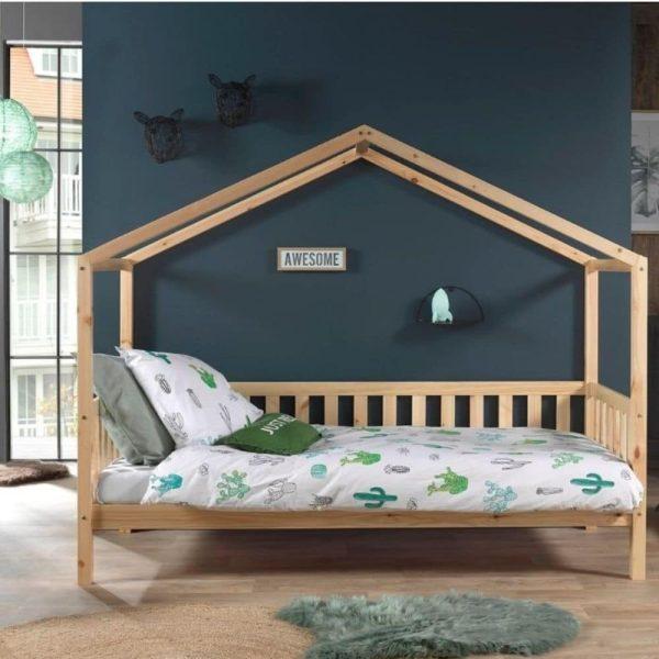 lit cabane en bois dallas barrières incluses 90 x 200 cm – vipack (2)