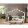 lit cabane en bois dallas barrières incluses 90 x 200 cm blanc – vipack (3)