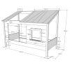 lit cabane en bois housebed 90 x 200 cm vipack