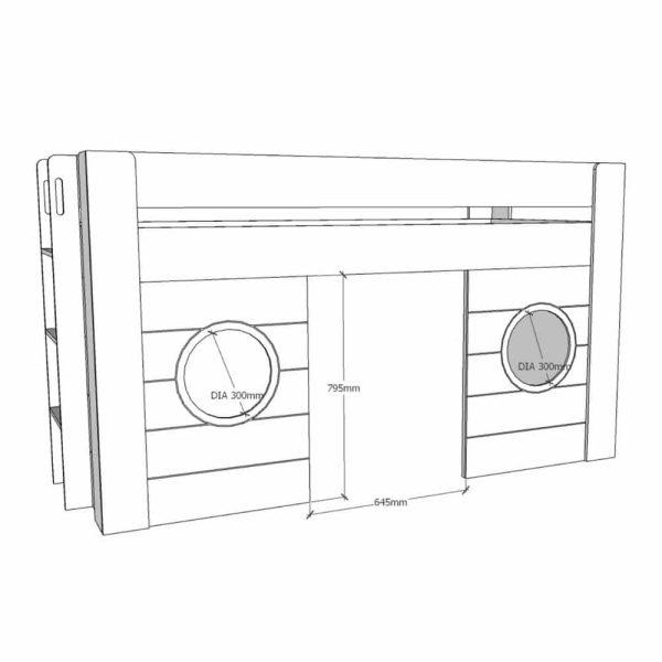 lit cabane mi hauteur freya 90 x 200 cm blanc – vipack (1)