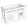 lit cabane mi hauteur freya 90 x 200 cm blanc – vipack (2)
