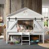 lit cabane surélevé barnie 90 x 200 cm blanc – vipack