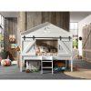 lit cabane surélevé barnie 90 x 200 cm blanc – vipack (4)