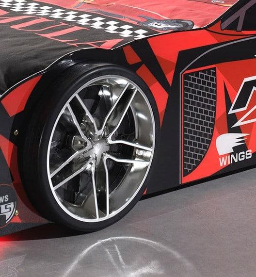lit enfant voiture de course noir & rouge (2)