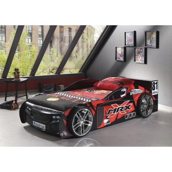 lit enfant voiture de course noir & rouge (3)