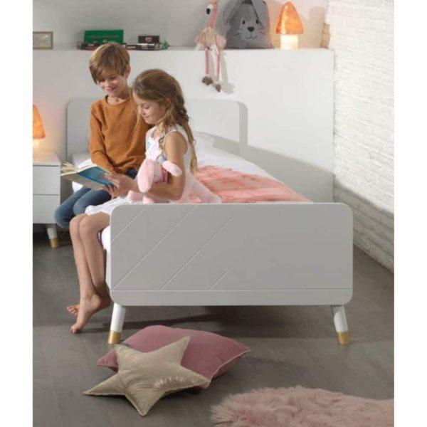 lit enfant en bois billy 90 x 200 cm blanc satin vipack (5)