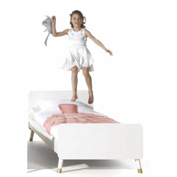 lit enfant en bois billy 90 x 200 cm blanc satin vipack (6)