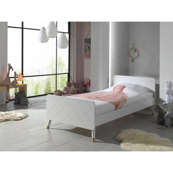 lit enfant en bois billy 90 x 200 cm blanc satin vipack (7)