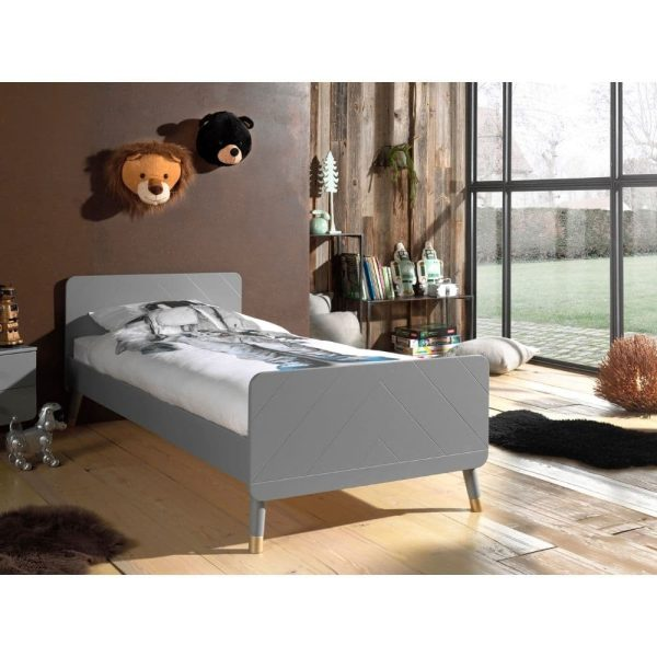 lit enfant en bois billy 90 x 200 cm gris timeless vipack (3)