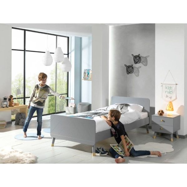 lit enfant en bois billy 90 x 200 cm gris timeless vipack (4)