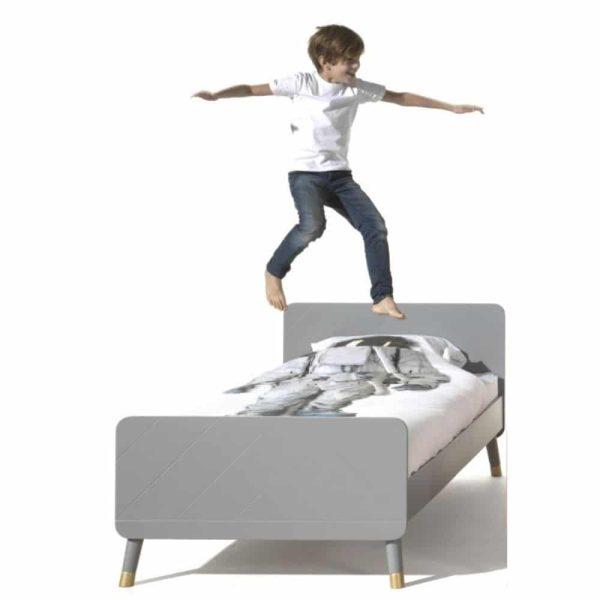 lit enfant en bois billy 90 x 200 cm gris timeless vipack (5)