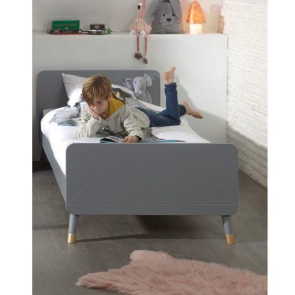 lit enfant en bois billy 90 x 200 cm gris timeless vipack (7)