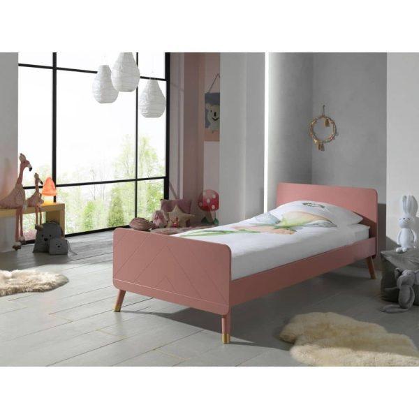 lit enfant en bois billy 90 x 200 cm rose terra vipack (4)