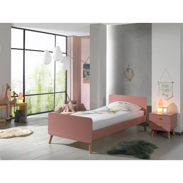 lit enfant en bois billy 90 x 200 cm rose terra vipack (5)