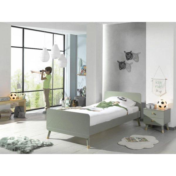lit enfant en bois billy 90 x 200 cm vert olive vipack (3)