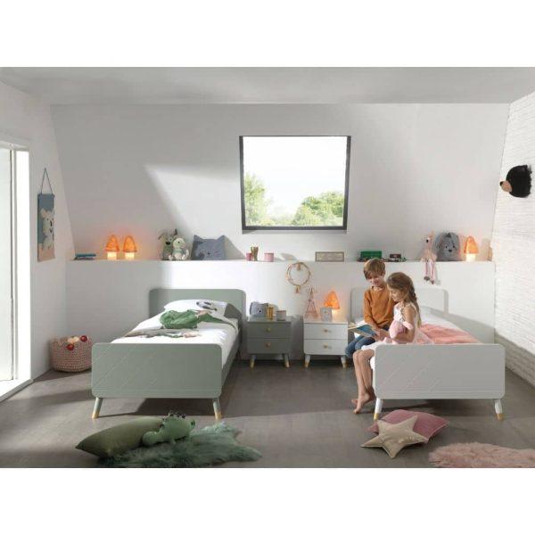 lit enfant en bois billy 90 x 200 cm vert olive vipack (4)