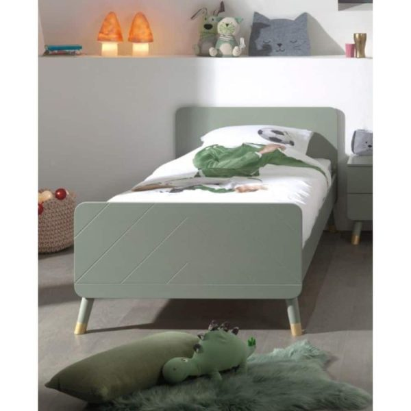 lit enfant en bois billy 90 x 200 cm vert olive vipack (6)