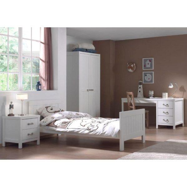 lit enfant en bois lewis 90 x 200 cm blanc vipack (2)