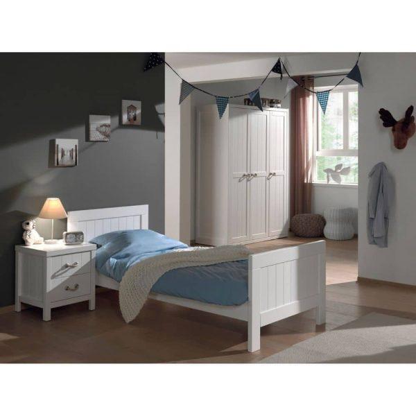 lit enfant en bois lewis 90 x 200 cm blanc vipack (5)