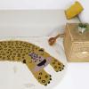 tapis petit léopard kléo miel - Nattiot