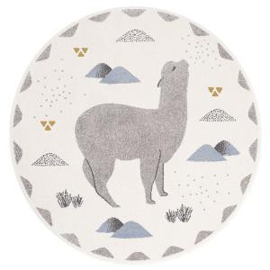 tapis enfant Andino petits lamas rond - Nattiot