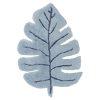 tapis enfant feuille monstera bleu lilipinso (1)