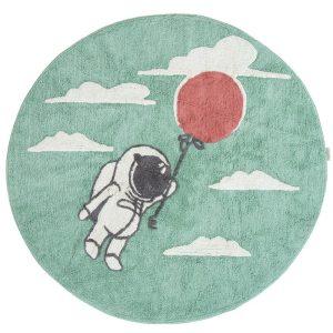 tapis rond coton astronaute & ballon (1)
