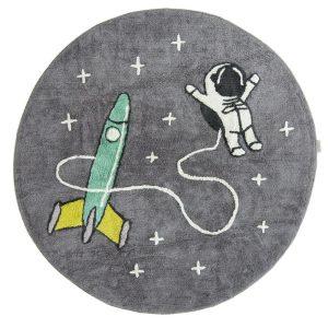 tapis rond coton astronaute & fusée (1)