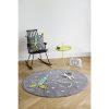 tapis rond coton astronaute & fusée (3)