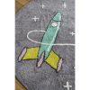 tapis rond coton astronaute & fusée (4)