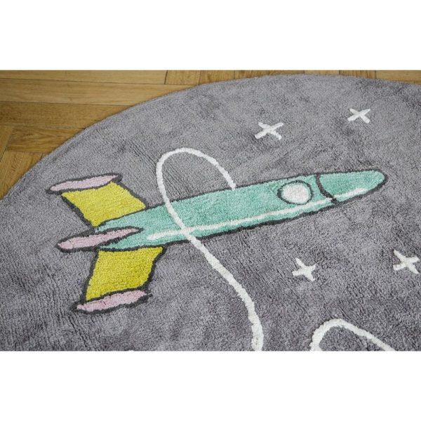 tapis rond coton astronaute & fusée (6)