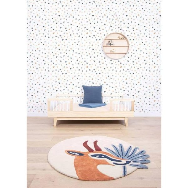 tapis rond coton gazelle lilipinso (3)