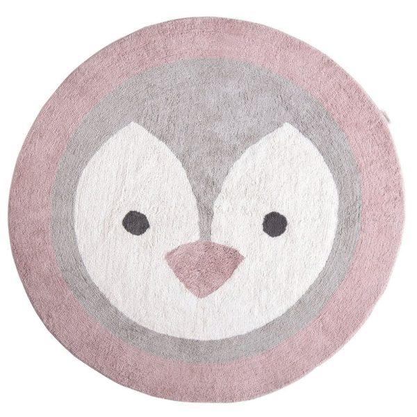 tapis rond coton pingouin (1)