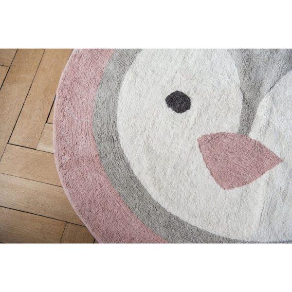 tapis rond coton pingouin (2)