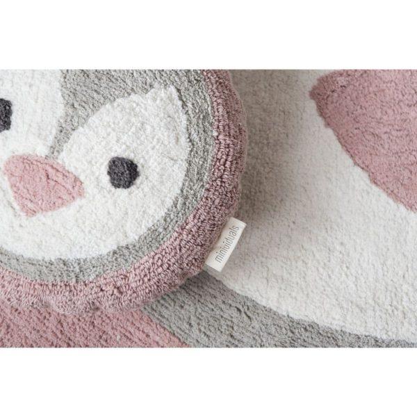 tapis rond coton pingouin (5)