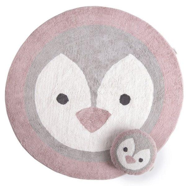 tapis rond coton pingouin (8)