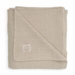 couverture basic knit nougat jollein (1)