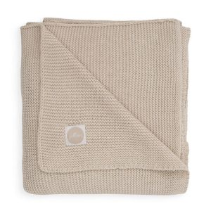 couverture basic knit nougat jollein (1)