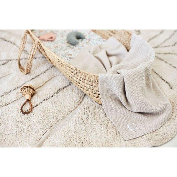 couverture basic knit nougat jollein (6)