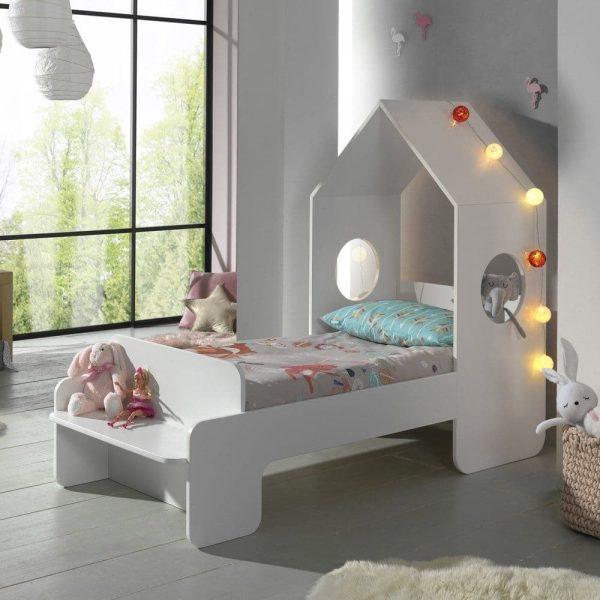 lit cabane casami 70 x 140 cm blanc – vipack
