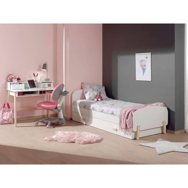 lit enfant en bois kiddy 90 x 200 cm blanc vipack (2)