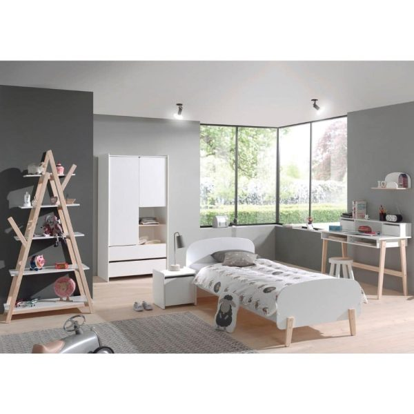 lit enfant en bois kiddy 90 x 200 cm blanc vipack (4)