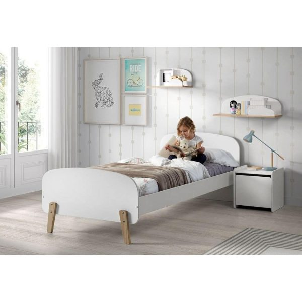 lit enfant en bois kiddy 90 x 200 cm blanc vipack (6)