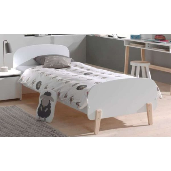 lit enfant en bois kiddy 90 x 200 cm blanc vipack (8)