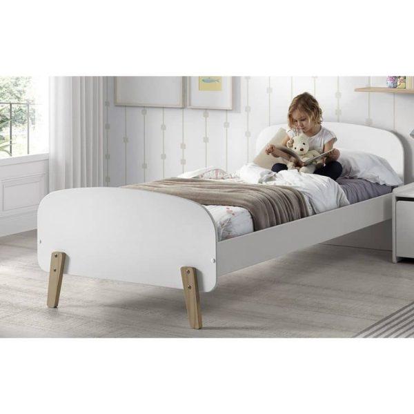 lit enfant en bois kiddy 90 x 200 cm blanc vipack (9)