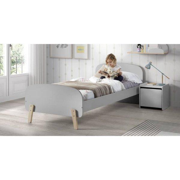 lit enfant en bois kiddy 90 x 200 cm gris vipack (5)