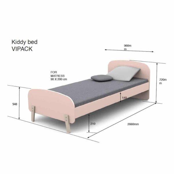 lit enfant en bois kiddy 90 x 200 cm vert menthe vipack (13)
