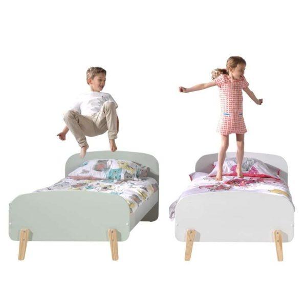lit enfant en bois kiddy 90 x 200 cm vert menthe vipack (3)
