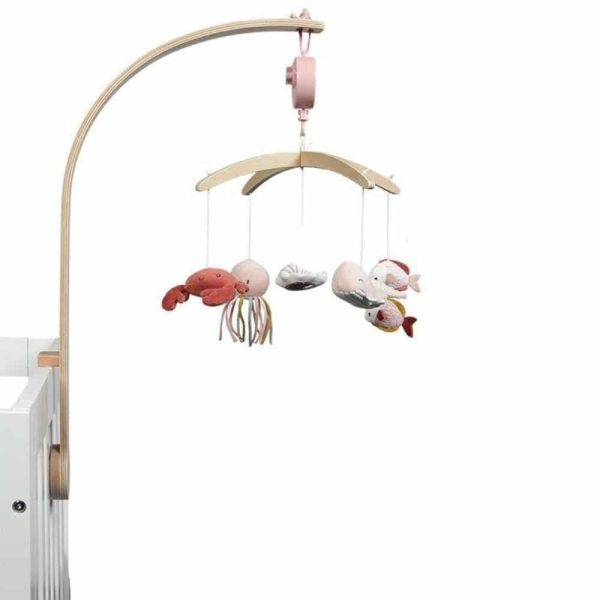 mobile musical en bois ocean pink little dutch (1)