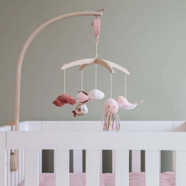 mobile musical en bois ocean pink little dutch (4)